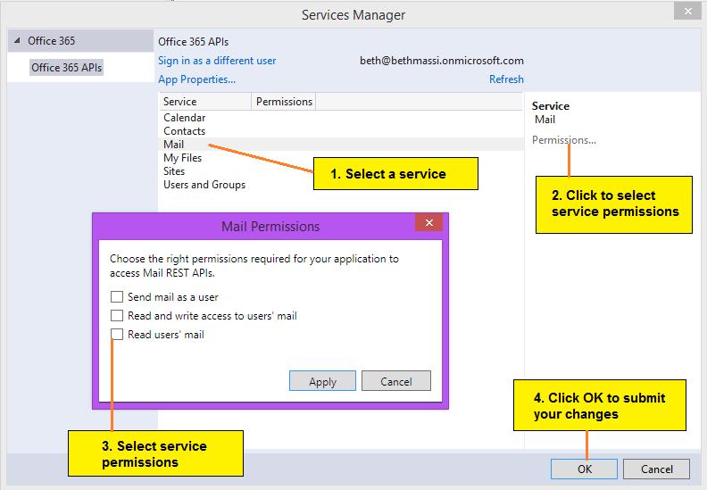 Microsoft Office 365 API Tools for Visual Studio 2013 - Visual ...